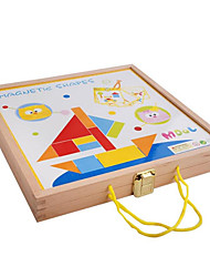 Magnetic Wooden Blocks Drawing Board, Color Stereo Jigsaw Puzzles, Children's Eeducational Toys
