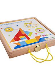 magnétiques blocs en bois planche à dessin, puzzles couleur stéréo, jouets pour enfants éducationnel