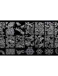 BlueZOO Rectangle Forest Garden Nail Art Stamping (BC-15)
