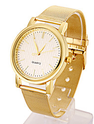 Lady's Stainless Steel Gold Band Analog White Case  Wrist Watch Jewelry Cool Watches Unique Watches