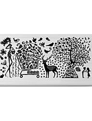 BlueZOO Rectangle Printing Nail Art Stamping (C-034)
