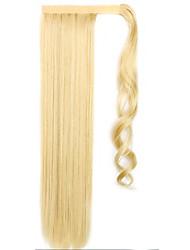 flaxen comprimento 60 centímetros a nova velcro mista cor peruca longa ar cavalinha reta (cor 86/613)