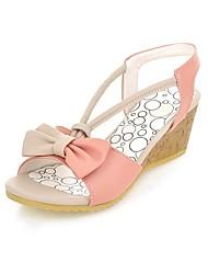 Women's Shoes Wedge Heel Comfort / Round Toe Sandals Wedding / Outdoor / Office & Career / Dress Blue / Pink / Purple