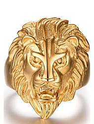 Муж. Массивные кольца Мода бижутерия Нержавеющая сталь В форме животных Лев Бижутерия Назначение Повседневные Спорт Новогодние подарки