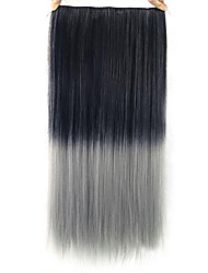 Straight Gray Colorful Human Hair Lace Wigs 1T0906
