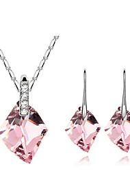 Schmuck-Set Damen Alltag Schmuck-Set Legierung Kristall Ohrringe / Halsketten Weiß