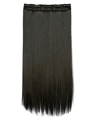 Clip In Clip In/On Human Hair Extensions Synthetic Hair Extension