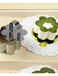Flower Shape Stainless Steel Cutter, Small Mousse Ring, Tiramisu, Cheese Cake Cutter Mould Tool