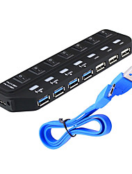 USB 3.0 7 portas / interface USB hub com interruptor separado 15.8 * 4.5 * 1.9