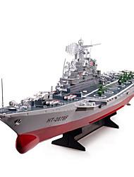 Военные корабли HT 2878A 1:275 Линкор RC лодка Бесколлекторный электромотор 2CH 6KM/H ABS Красный / Серый