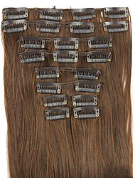 Wig Dark Brown 62CM High Temperature Wire Length Straight Hair Synthetic Hair Extension