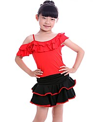 Latin Dance Kid's Nylon 1 Piece Sleeveless Dress