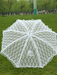 White Lace Wedding Unmbrellas for Bridal Parasols