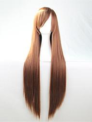 Europa und die Vereinigten statest die neue Farbe Perücke 80 cm breit dunkelbraun langen geraden Haar Perücken