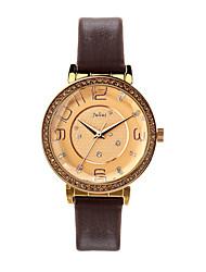Julius® Watch Korea Fashion Big Dial Women Watch Waterproof Leather Belt Vintage Design JA-807