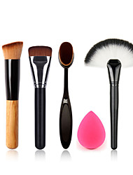 дерева кисть вентилятор кисти макияж зубная щетка основа щетка для чистки яйцо и маленький размер макияж губка