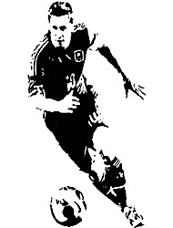 W061 Aiwall Argentine Football Wall Stickers Sport Vinyl Decals Barcelona Star Lionel Messi Dribbling