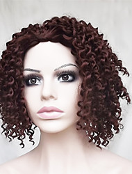 Europe And The United States With Little Brown Volume 14 inch High Temperature Wire Short Curl Hair Wigs