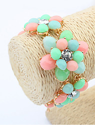 Bracelet Chain Bracelet / Strand Bracelet Alloy / Resin Wedding / Party / Daily / Casual Jewelry Gift Beige / Green / Pink,1pc