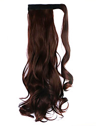 Wig Black Chocolate 45CM Synthetic High Temperature Wire Curly Horsetail Color 33J