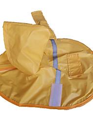 Hunde Regenmantel Gelb Hundekleidung Frühling/Herbst Wasserdicht