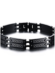 Magnetic Therapy Bracelet Men's Fashion Jewelry Black Stainless Steel Bracelet Christmas Gifts