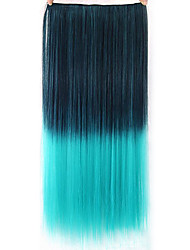 Straight Green Colorful Human Hair Lace Wigs 1T5216