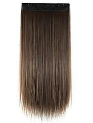 Wig Black-Brown 60CM High Temperature Wire Length Straight Hair Synthetic Hair Extension