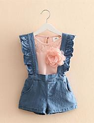 Girls Jeans Skirt Girl Denim Skirt Cute Girls Denims Suspender Ruffle Overalls Girl 3-8 Years Casual Big Kids