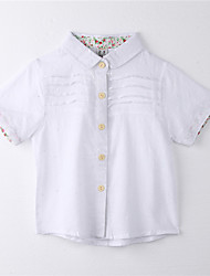 Girl's Print Tee,Cotton Summer White