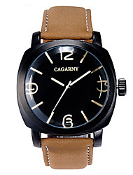 GACARNY 6833 Ladies' Fashion Black Case PU Leather Band Analog Quartz Wrist Dress Watch (Assorted Color)