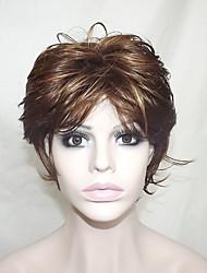 Европа и Соединенные Штаты продают серобурых окрашенного полиэфирного среднего возраста и старых деформироваться парик 12 дюймов