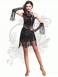 Vestidos(Negro,Espándex,Danza Latina) -Danza Latina- paraMujer