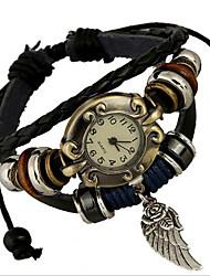Женские Модные часы Часы-браслет Цифровой Кожа Группа Богемные Коричневый