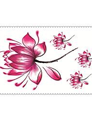 la moda de flores tatuajes temporales de arte corporal atractiva a prueba de agua pegatinas tatuaje 5pcs (tamaño: 2.36 '' de 4.13 '')