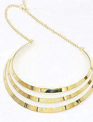 Women's Pendant Necklaces Silver Plated Gold Plated Alloy Fashion Gold Silver Jewelry Wedding Party Daily Casual 1pc