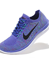 Nike Free Flyknit Women's Sneaker Running Shoes Fabric Black / Purple / Dark Green / Fuchsia