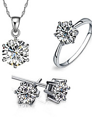 Alloy / Cubic Zirconia Jewelry Set  Earrings Necklace Rings for women