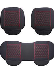 Flachs Auto Sitzkissen 3pcs schwarz-rot