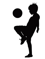 Fashion Kids Football Wall Decals Abstract / Leisure / Sports / 3D Wall Stickers Plane Wall Stickers,vinyl 116*57cm