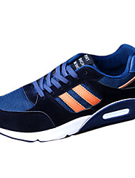Men's Sneakers Spring Fall Comfort Fabric Microfibre Athletic Flat Heel Lace-up Black Blue Red