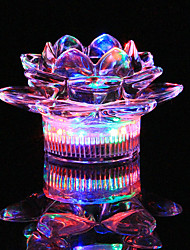 1PC Colorful Color Creative Pub KTV  Glass Candle Holders Lamp Night Light LED Drinkware