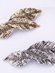 New Retro Metal 3 Leaf Hairpin Han Edition Spring Clip Bang Clip 2 PCS