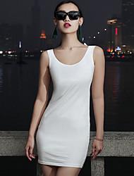 VERRAGEE® Women's Round Neck Sleeveless Tea-length Dress-Q337