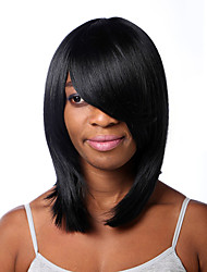 Europe And The United States Sell Black Long Hair Straight Hair Wigs BOBO 12 Inch
