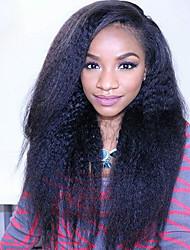 """cheveux vierges pleine dentelle brazilian perruques perruques de cheveux humains pour les femmes noires 8 """"-30"""" yaki dentelle droite"""