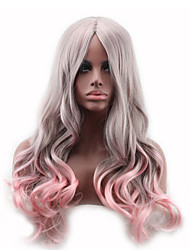 Women's Fashionable Multi-color Long Length Top Quality Synthetic Wigs