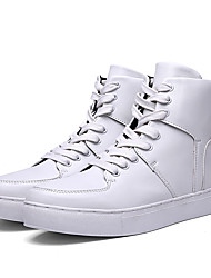 Men's Shoes EU39-EU44 Casual/Travel/Outdoor Fashion Microfiber Leather High-top Sneakers Board Shoes
