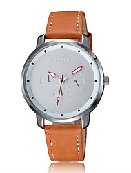 Men's Fashion Watch Quartz Water Resistant / Water Proof Leather Band Casual Black Brown Brand