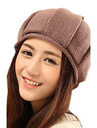 Women Casual Pure Wool Twist Warm Hedging Hat